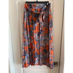 CAbi Calypso Paradise Orange Floral Maxi Skirt